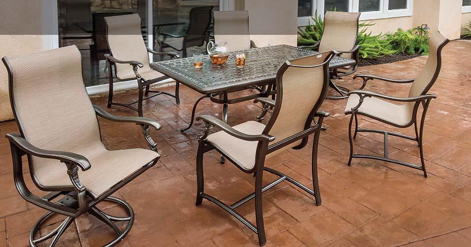 Allstate Patio Furniture.Ravello Sling Sling Patio Furniture Allstate Home Leisure